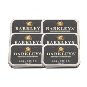 Barkley's Mint – Liquorice Tin – 6 x 50g (300g)