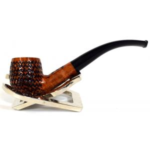 BBB Lightweight Carved Metal Filter Briar Fishtail Pipe (BBB058)