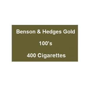 Benson & Hedges Gold 100s Superking - 20 Packs of 20 Cigarettes (400)