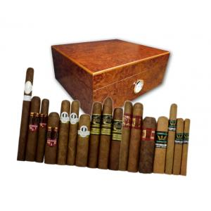 Exclusive New World Cigars and Oxford Dark Burl Humidor Sampler