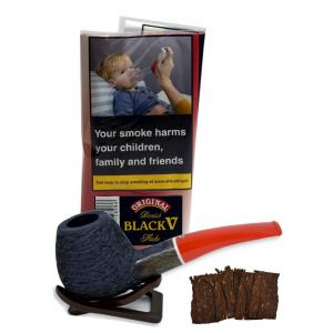 Danish Black V Flake Planta Pipe Tobacco 40g (Pouch)