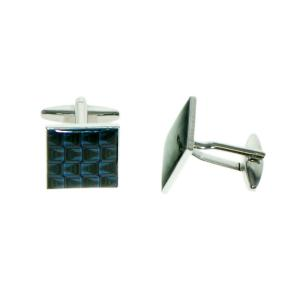 Retro Blue Squares Cufflinks