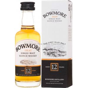 Bowmore 12 Year Old Single Malt Scotch Whisky Miniature - 5cl 40%