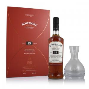 Bowmore 15 YO with Decanter Gift Set - 43% 70cl
