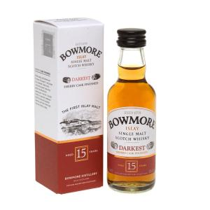 Bowmore 15 Year Old Single Malt Scotch Whisky Miniature - 5cl 43%