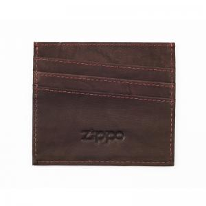 Zippo Leather Credit Card Holder - Brown