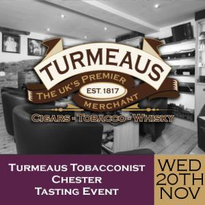 Turmeaus Chester Whisky & Cigar Tasting Event - 20/11/19