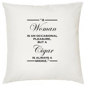 Cigar is always a Smoke - Cigar Themed Cushion