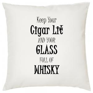 Keep Your Cigar Lit - Cigar Themed Cushion