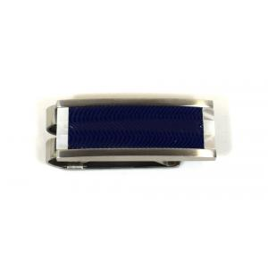 Colibri Mens Stainless Steel Arctic Blue & Silver Money Clip (End of Line)