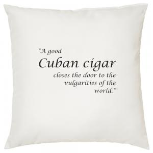 A Good Cuban Cigar - Cigar Themed Cushion