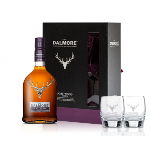 Christmas Gift - Dalmore Port Wood Reserve Glass Pack – 70cl and 2 Glasses