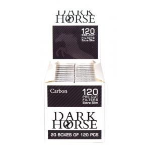 Dark Horse Extra Slim Carbon Filter Tips (120) 20 Boxes
