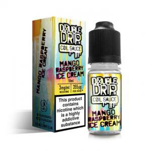 Double Drip Mango Raspberry Ice Cream Vape E- Liquid 10ml 3mg