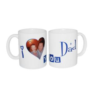 """We Love You Dad"" Personalised Image Mug"