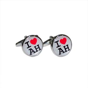 "Bespoke Romantic ""I Love"" Personalised Cufflinks"