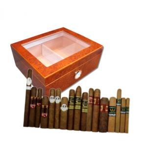 Exclusive New World Cigars and Eaton Glass Top Humidor Sampler