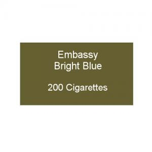 Embassy Bright Blue - 10 packs of 20 cigarettes (200)