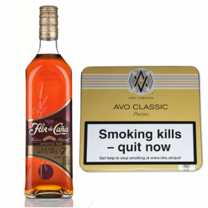 AVO Classic Uvezian Puritos and Flor de Cana 7 Year Old Rum Pairing