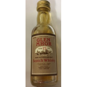 Glen Mhor 15 Year Old Rare Old Whisky Miniature - 5cl 40%