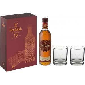 Glenfiddich 15yo Glass Pack - 40% 70cl