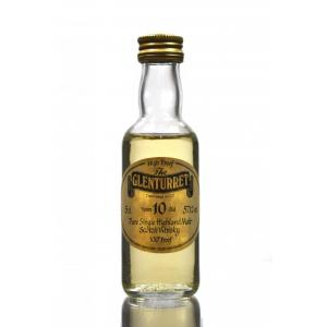 Glenturret 10 Year Old Pure Single Highland Whisky Miniature - 5cl 100 Proof