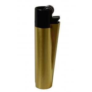 Clipper Metal Flint Gold and Black Lighter