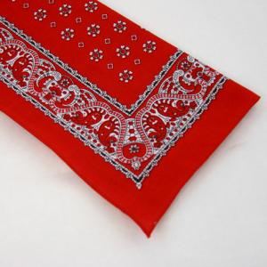 Wilsons of Sharrow Red Paisley Boarder Handkerchief