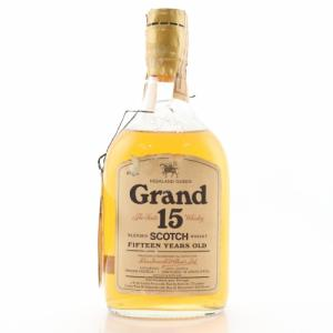 Highland Queen Grand 15 Year Old 1970s Whisky - 70 Proof 26 2/3 FL. OZ
