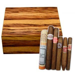 The Highlander Humidor + Budget Small Cuban Cigar Sampler