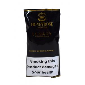 Honeyrose London Legacy Herbal Smoking Mixture Hand Rolling Tobacco (Tobacco free) 50g Pouch