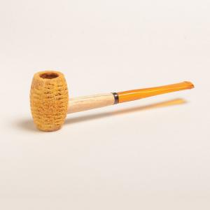 Corn Cob Huck Finn Straight Amber Stem Pipe
