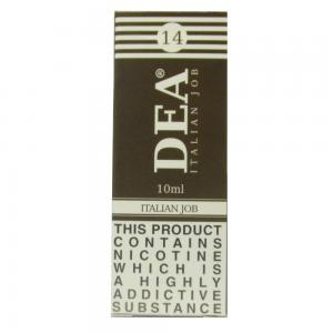 DEA Italian Job Vape E- Liquid 10ml 14mg
