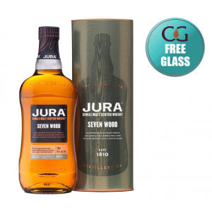 Isle of Jura Seven Wood 2018 Bottling Whisky With Free Glass - 70cl 42%