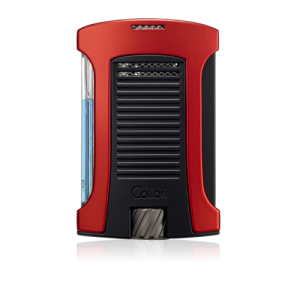 Colibri Daytona Single-jet Flame Lighter - Red & Black
