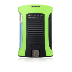 Colibri Daytona Single-jet Flame Lighter - Neon Green & Black