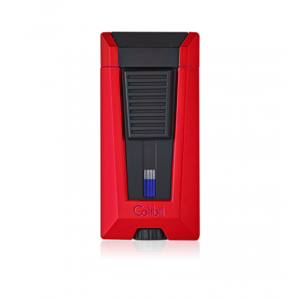 Colibri Stealth Triple Flame Lighter - Metallic Red & Black