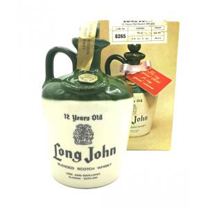 Long John 12 Year Old Blended Scotch Ceramic Decanter - 43% 75cl