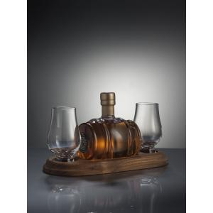 Mini Whisky Barrel Decanter And 2 Whisky Glasses - 200nl