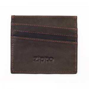 Zippo Leather Credit Card Holder - Mocha
