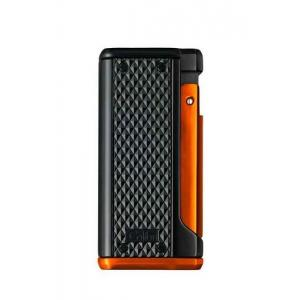 Colibri Monza III - Triple Jet Lighter - Black & Anodized Orange (End of Line)