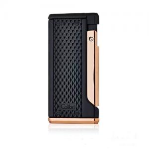 Colibri Monza III - Triple Jet Lighter - Black & Rose Gold (End of Line)