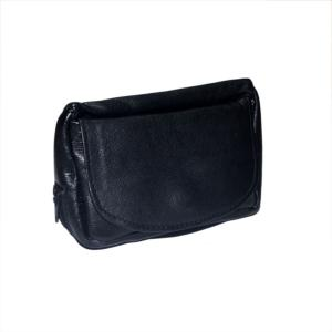 Dr Plumb Combination Leather Tobacco Pouch with Square Corners
