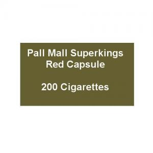 Pall Mall Superkings Red Capsule - 10 Packs of 20 Cigarettes (200)