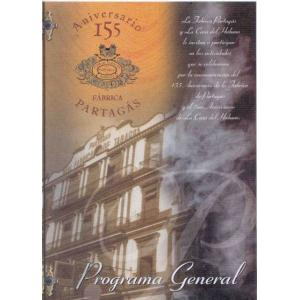 Partagas 155th Anniversary Dinner Program at the Hotel Nacionale