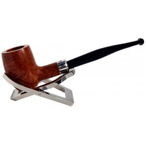 Peterson Barrel Army Natural Silver Mounted Fishtail Pipe (PE676)