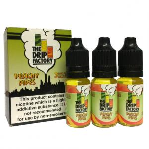The Drip Factory - Peachy Pipes Vape E-Liquid - 3 x 10ml 3mg