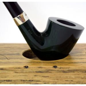Peterson Churchwarden D15 Green Nickel Mounted Fishtail Pipe (PEC026)