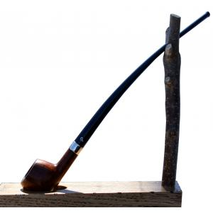 Peterson Churchwarden Prince Smooth Nickel Mounted Fishtail Pipe (PEC074)