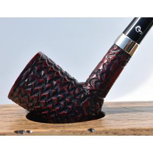 Peterson Churchwarden D17 Rustic Nickel Mounted Fishtail Pipe (PEC106)